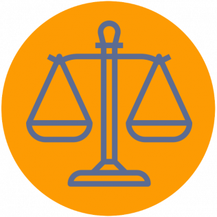 Balance scale symbol related to Criminal Defense